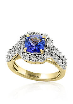 Effy Tanzanite and Diamond Ring in 14K White and Yellow Gold