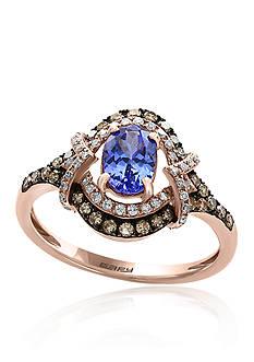Effy Tanzanite and Diamond Ring in 14K Rose Gold