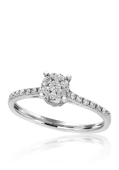 Effy® 0.30 ct. t.w. Diamond Cluster Ring in 14K White Gold