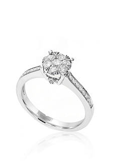 Effy 0.52 ct. t.w. Diamond Cluster Ring in 14K White Gold