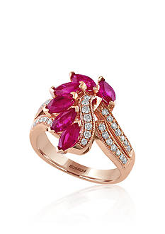 Effy Ruby & Diamond Ring in 14K Rose Gold