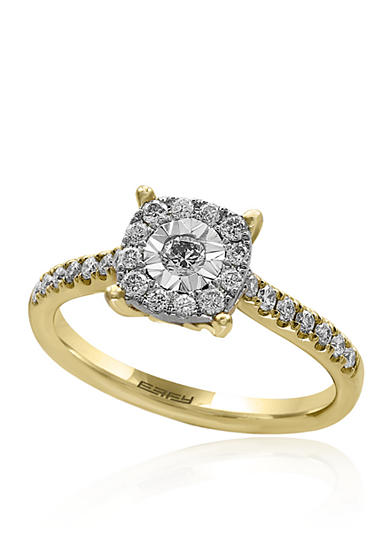 Effy® Diamond Cluster Ring in 14K Yellow Gold
