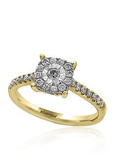 Effy Diamond Cluster Ring in 14K Yellow Gold