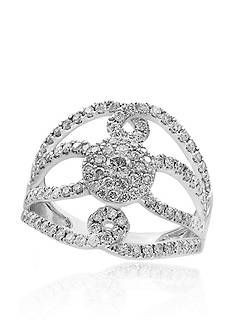 Effy Diamond Cluster Ring 14K White Gold