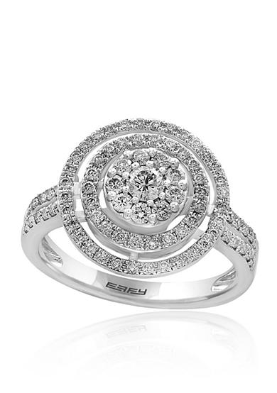 Effy® 0.73 ct. t.w. Diamond Cluster Ring in 14K White Gold