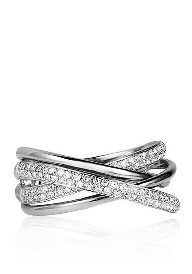 Effy® 0.40 ct. t.w. Diamond Crossover Ring in 14K White Gold