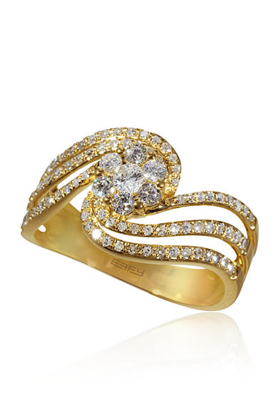 Effy® 0.63 ct. t.w. Diamond Cluster Ring in 14K Yellow Gold