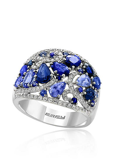Effy® Sapphire and Diamond Ring in 14k White Gold
