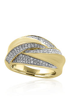 Diamond Swirl Ring in 14K Yellow Gold