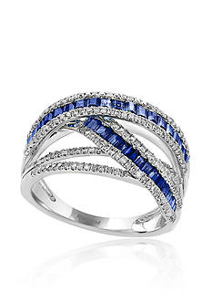 Effy Sapphire & Diamond Ring in 14K White Gold
