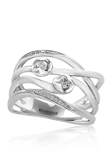 Effy® 0.22 ct. t.w. Diamond Ring in 14K White Gold