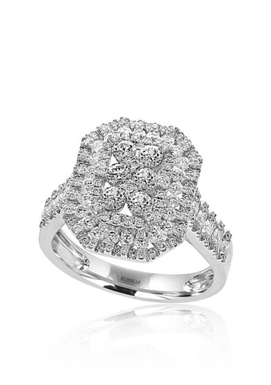 Effy® 1.21 ct. t.w. Diamond Cluster Ring in 14k White Gold