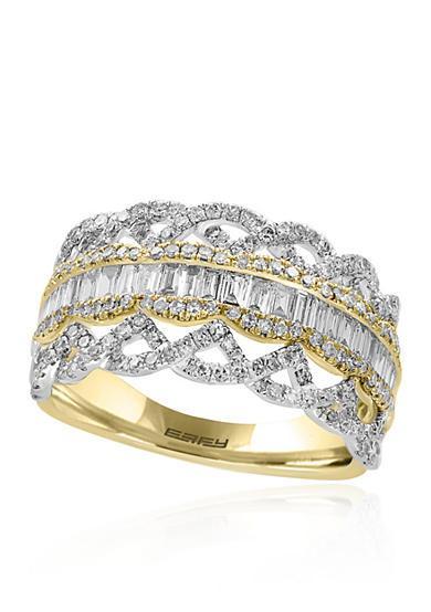 Effy® Diamond Band in 14K Yellow Gold and White Gold