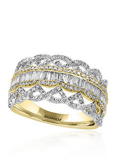 Effy Diamond Band in 14K Yellow Gold and White Gold
