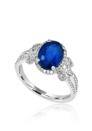 Effy® Oval Sapphire & Diamond Ring in 14K White Gold