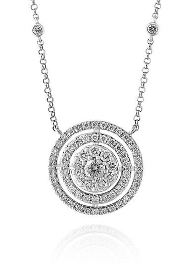 Effy® 0.67 ct. t.w. Diamond Circle Necklace in 14K White Gold