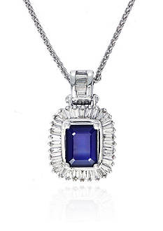 Effy Emerald Sapphire & Diamond Necklace in 14K White Gold