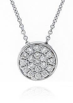 Effy 0.28 ct. t.w. Diamond Cluster Pendant in 14K White Gold