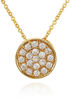 Effy 0.25 ct. t.w. Diamond Round Pendant Necklace in 14K Yellow Gold