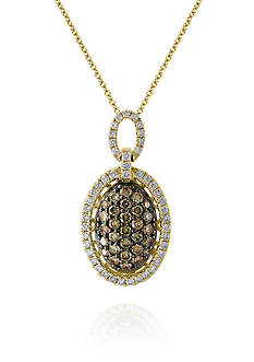 Effy Espresso Diamond Pendant Necklace in 14K Yellow Gold