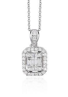 Effy Diamond Pendant Necklace in 14K White Gold