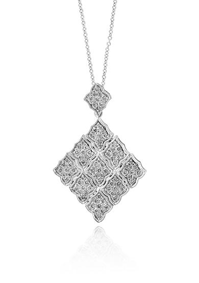 Effy® Diamond Drop Pendant Necklace in 14K White Gold