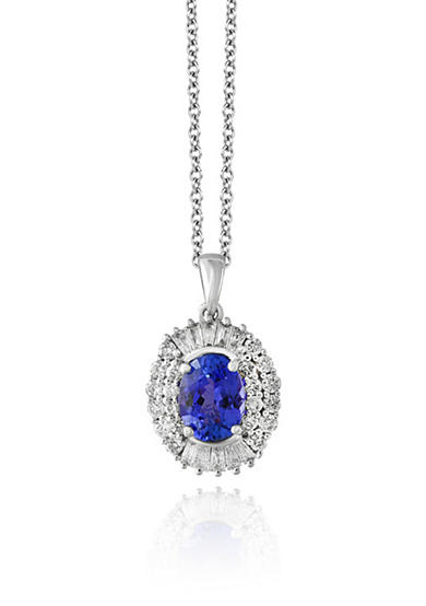 Effy® Tanzanite and Diamond Pendant Necklace in 14K White Gold