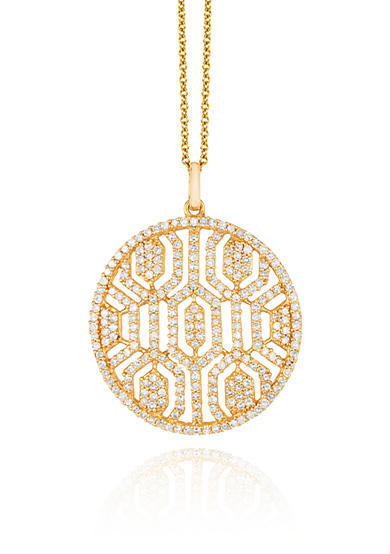 Effy® Diamond Pendant Necklace in 14K Yellow Gold