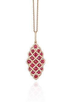 Effy Ruby & Diamond Necklace in 14K Rose Gold