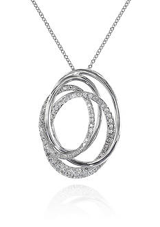 Effy® 0.43-ct. t.w. Diamond Necklace in 14K White Gold