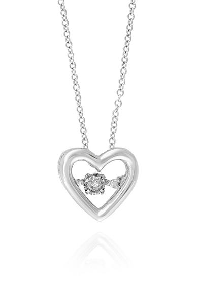 Effy® 0.10 ct. t.w. Diamond Heart Pendant Necklace in 14K White Gold