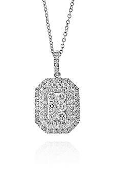 Effy 1.02 ct. t.w. Diamond Cluster Pendant in 14K White Gold
