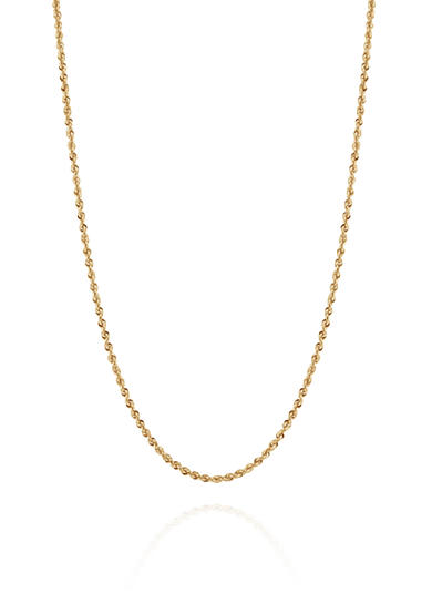 Belk & Co. Ultimate Glitter Chain Necklace in 14k Yellow Gold