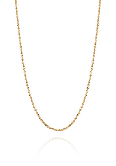 Belk & Co. Glitter Chain Necklace in 14K Yellow Gold