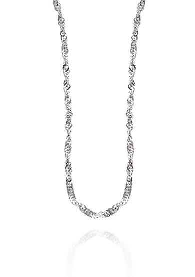 Belk & Co. 14K White Gold Sparkle Chain
