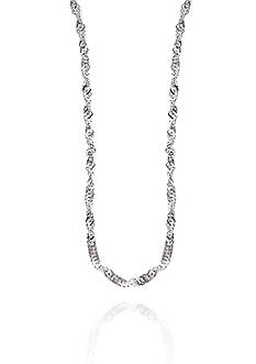 Belk & Co. 14K White Gold Sparkle Chain