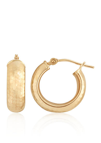 Belk & Co. Hoop Earrings in 14K Yellow Gold