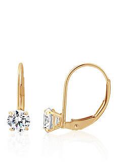 Belk & Co. Cubic Zirconia Drop Earrings in 14K Yellow Gold