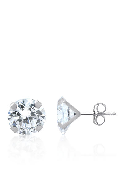 Belk & Co. Cubic Zirconia Earrings in 14K White Gold