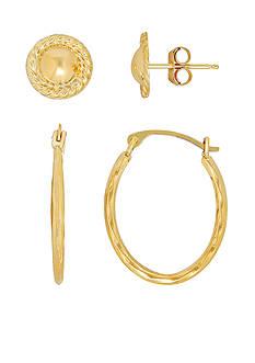 Belk & Co. 14k Yellow Gold Earrings Set