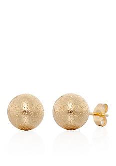 Belk & Co. Glitter Ball Stud Earrings in 14K Yellow Gold