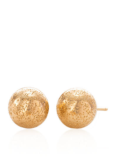 Belk & Co. Ball Stud Earrings in 14k Yellow Gold