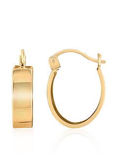 Belk & Co. 14k Yellow Gold Band Hoop Earrings