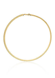 Belk & Co. Reversible Choker Necklace in 10k Yellow Gold and Sterling Silver