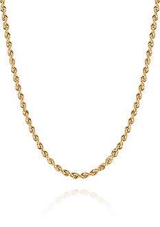Belk & Co. Chain Rope Necklace in 10K Yellow Gold