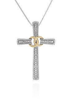 Belk & Co. 0.11 ct. t.w. Diamond Cross Pendant in Sterling Silver