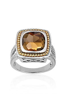 Belk & Co. Smokey Quartz in Sterling Silver with 10k Yellow Gold