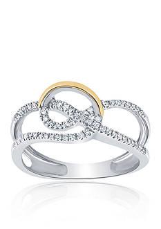 Belk & Co. 0.20 ct. t.w. Diamond Ring in Sterling Silver & 10K Yellow Gold