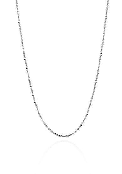 Belk & Co. Sparkle Chain with Heart Dangle in 14k White Gold