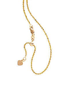 Belk & Co. Sparkle Necklace in 14K Yellow Gold